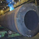 Kubes Steel Rotary Drum Dryer Shell Custom Fabrication Brake Press Welding Plate Rolling