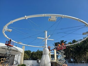 Kubes Steel North Beach Miami Bandshell Canopy Under Construction